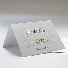 Heart Filigree Thank You Card