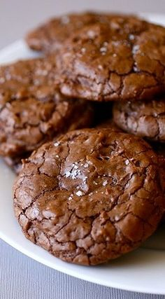 Salted Double Chocolate Chunk Cookies | Annie's Eats