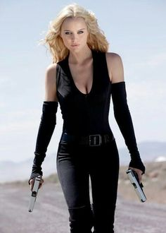 Black Latex Catsuit worn By Helena Mattsson. Buy your Catsuit for dance from DCUK Dance Clothes. Badass Women, Sexy Women, Helena Mattsson, Beauté Blonde, Swedish Girls, Lord, Armada, Action Poses, Hot Girls
