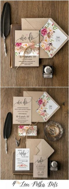 Wedding License before Wedding Guest Dresses At Bloomingdale's within Wedding Favors Needed only Wedding Shoes Cheap Handmade Wedding Invitations, Rustic Invitations, Wedding Stationary, Wedding Invites Rustic, Bohemian Wedding Stationery, Invitation Kits, Floral Invitation, Invitation Templates, Watercolor Wedding Invitations