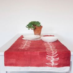 Table Runner linen fabric crumpled Naturalia collection by stamperia bertozzi made in Italy Italian Table, Linen Fabric, Table Runners, Furniture, Collection, Home Decor, Decoration Home, Room Decor, Home Furnishings