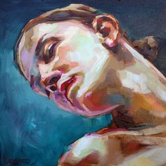 """Saatchi Art Artist: Jurij Frey; Oil 2014 Painting """"Model (Sold)"""""""