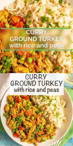 Quick Ground Turkey Recipes, Healthy Turkey Recipes, Healthy Crockpot Recipes, Beef Recipes, Cooking Recipes, Ground Turkey And Peppers Recipe, Minced Turkey Recipes, Rice Recipes, Healthy Ground Chicken Recipes