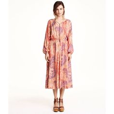 New H&M Bohemian Paisley Dress