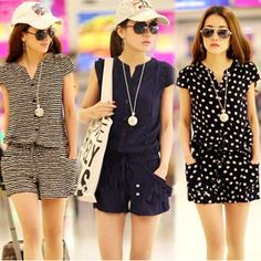 Details about Sexy Women Jumpsuit Loose Romper Summer Clothes Beach Party Dress Shorts Outfit NEW Fashion Womens Girls Sexy Short Sleeve Pants Jumpsuit Casual Romper Shorts - Jumpsuits and Romper Casual Wear, Casual Outfits, Summer Outfits, Fashion Outfits, Women's Casual, Beach Casual, Casual Party, Casual Clothes, Summer Clothes