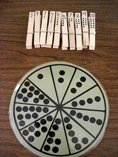 "Counting game- think ""math stations"". Math Classroom, Kindergarten Math, Fun Math, Math Games, Teaching Math, Learning Activities, Preschool Activities, Kids Learning, Lego Math"