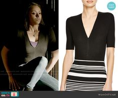 Bonnie's black ribbed top on The Vampire Diaries.  Outfit Details: https://wornontv.net/58034/ #TheVampireDiaries  Buy it here: http://wornon.tv/36390