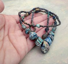 storm over seas..necklace by greybirdstudio on Etsy