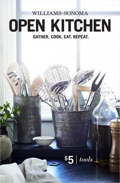 Gather. Cook. Eat. Repeat. Shop beautiful, affordable essentials from the Williams-Sonoma Open Kitchen collection. Tools starting at $5.