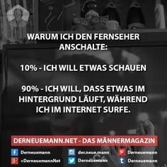 Fernseher #derneuemann #humor #lustig #spaß #sprüche #tv