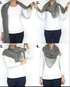 Yes! This how I want to tie a scarf!