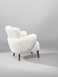 Wool and Wood Armchair by Flemming Lassen, circa 1940