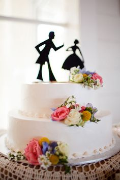 silhouette cake topper // photo by Karen Buckle hmmm make these but with a dictor who reference?