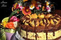 Tort Profiterol | Retete culinare cu Laura Sava - Cele mai bune retete pentru intreaga familie Cake Recipes, Mai, Sweets, Desserts, Food, Pies, Tailgate Desserts, Deserts, Easy Cake Recipes