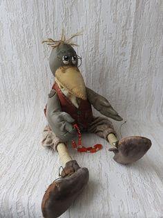 Marionette, Autumn Crafts, Bird Drawings, Beatrix Potter, Soft Dolls, Cute Dolls, Pet Toys, Crow, Snowman