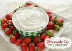 Cream Cheese Fruit Dip.  Only 3 ingredients!