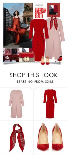 """""""Red Dress"""" by danewhite ❤ liked on Polyvore featuring A La Russe, Yves Saint Laurent, Christian Louboutin and Gucci"""