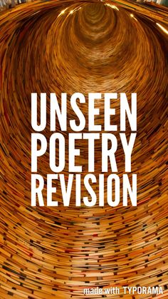 A video to guide students through their revision for the unseen poetry element of the Literature exam    Ideas and inspiration for teaching GCSE English    www.gcse-english.com   