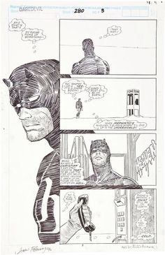 page 3 from Daredevil by John Romita Jr., Al Williamson, Christie Scheele, Ann Nocenti and Jack Morelli Comic Book Pages, Comic Book Artists, Comic Artist, Comic Books Art, Daredevil Artwork, Frank Miller Art, John Romita Jr, Comic Layout, Jr Art