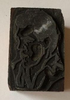 Antimony Symbol Letterpress Printing Block All Metal Vintage