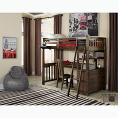 Chelsea Home Twin Futon Bunk Bed with Storage Reviews Wayfair