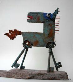 gérard collas - cheval qui prend la clé des champs