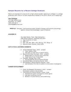 First Resume Template Templates And Builder Post Navigation College