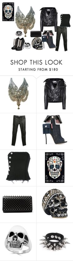 """""""sons of anarchy"""" by mimmiandkinkistatementjewelry ❤ liked on Polyvore featuring Balenciaga, Sandro, Dsquared2, Marques'Almeida, Christian Louboutin, Judith Leiber, Effy Jewelry, Giuseppe Zanotti and Apex"""