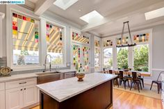 Love the windows in this kitchen! 1896 home in Berkeley, CA