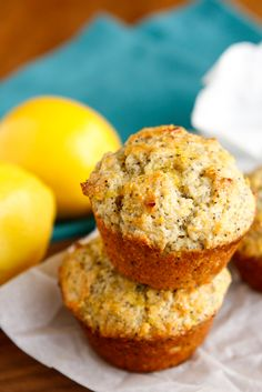 Moist Lemon Poppy Seed Muffins -- this isn't your typical lemon poppy seed muffin recipe, two ingredients take them from so-so to wow! But don't take my word for it...