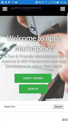 Appz marketplace is an online site which allows Android and iOS freelancers and app developers to buy and sell software applications.