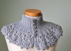 Cute capelet!  Made this with cotton yarn for me for the warmer weather and in a green wool for a friend for winter months.  We both love it.