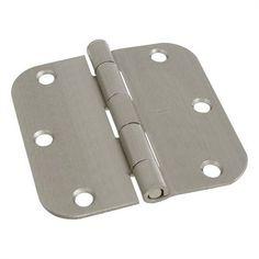 Stanley-National Hardware 2-Pack 3.5-in Satin Nickel 5/8-in Radius Interior Concealed Door Hinge