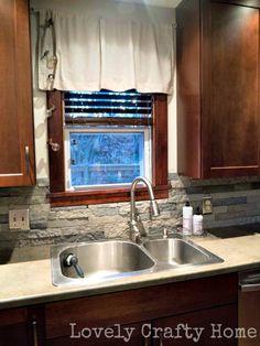 DIY Kitchen Backsplash $300 using Airstone!   Lovely Crafty Home