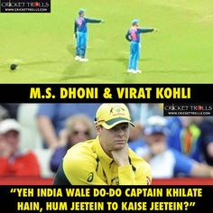 Condition of Steven Smith right now IndvsAus but but main captain to msd hi rahega na Funny Minion Memes, Very Funny Memes, Some Funny Jokes, Funny Facts, World Cricket, Icc Cricket, Cricket Score, Cricket Poster, Jokes Pics