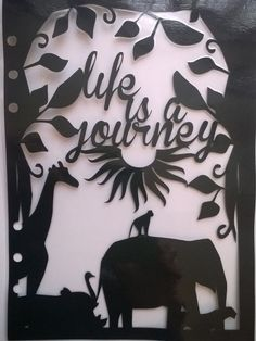 Life is a Journey A5 dashboard for Filofax style por CraftyAliCat, £4.50