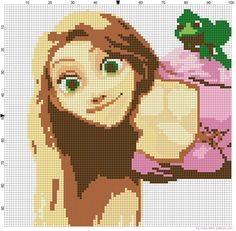 Rapunzel Tangled cross stitch pattern