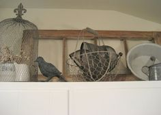 New Kitchen Decor Above Cabinets Diy Cupboards Ideas Above Cabinet Decor, Decorating Above Kitchen Cabinets, Diy Cupboards, Above Cabinets, Kitchen Cabinetry, Cabinet Ideas, Kitchen Cupboard, Primitive Kitchen, Farmhouse Kitchen Decor