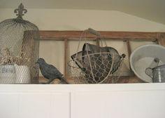 decor above kitchen cabinets | Sure Fit Slipcovers: Decorating Above The Kitchen Cabinets