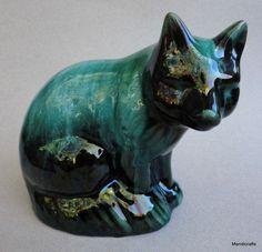Mountain Art, Blue Mountain, Mid Century Style, Pottery Art, Glaze, Lion Sculpture, Skull, Canada, Turquoise