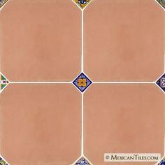 Mexican Tile - Terra Nova Natural Terracotta Octagonal Floor Tile