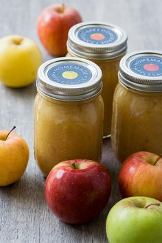 Homemade Applesauce. It makes a wonderful hostess gift or token of appreciation during the holidays. But no one will blame you if you decide to hoard the entire batch all to yourself. It's so good, you may never buy store bought again!