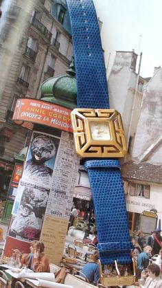 Retired WAtch  Greek Key G Unisex Watch BlueBand Mother Of Pearl Face Working with New Battery On SaLe  Now