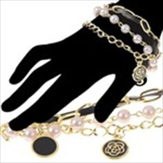 Fashionable 3-Layer Bracelet Hand Chain Wrist Ornament Jewelry with Beads & Clover Decor for Female Woman Girl
