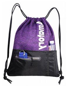 Purple Sky Drawstring Backpack Rucksack Shoulder Bags Training Gym Sack For Man And Women