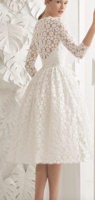 Ideas Vintage Wedding Dress With Sleeves Rosa Clara Trendy Dresses, Sexy Dresses, Beautiful Dresses, Evening Dresses, Short Dresses, Fashion Dresses, Dresses With Sleeves, Short Sleeves, Rosa Clara Wedding Dresses