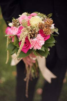 The beautiful bouquet from our pink and gold fall shoot in Northern Michigan. This amazing bouquet was made by @Rhiannon Nicole. Love her to pieces!