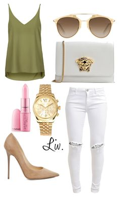 72. by xxliv on Polyvore featuring polyvore fashion style Topshop FiveUnits Jimmy Choo Versace Michael Kors Christian Dior Giambattista Valli clothing