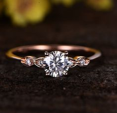This diamond ring has five gems giving it five stars. | 18 Jaw Dropping Engagement Rings That Are Under $500 #engagementrings