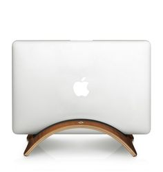 A classy, wooden Macbook stand; Twelve South BooArc Mod.
